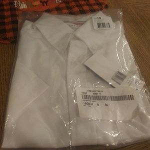 Boys size 10 short sleeve white oxford shirt
